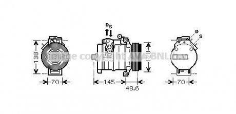 BW K345 AVA COOLING Компрессор X5 4.4 i 02/00-