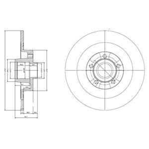 BG9024RS Delphi Тормозной диск с підшипником