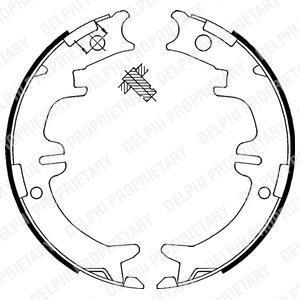 LS1892 Delphi Тормозные колодки, барабанні