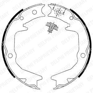 LS1913 Delphi Тормозные колодки, барабанні