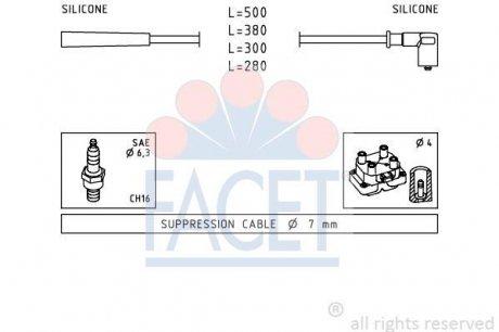 4.7252 FACET Комплект проводов зажигания