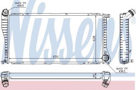 60634A NISSENS Радиатор системы охлаждения