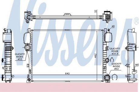 627025 NISSENS Радиатор системы охлаждения
