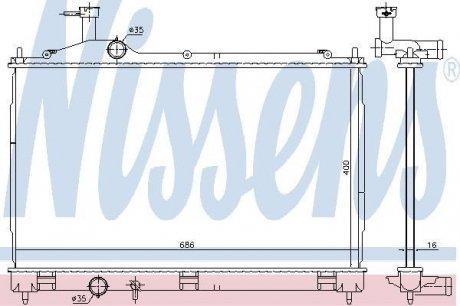 628967 NISSENS Радиатор охлаждения двигателя