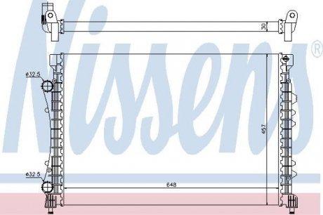 63815 NISSENS Радиатор охлаждения двигателя