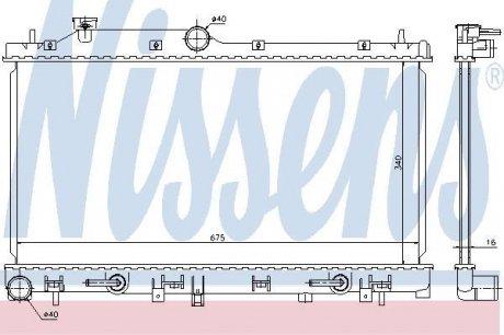 67720 NISSENS Радиатор системы охлаждения