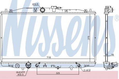 68152 NISSENS Радиатор системы охлаждения