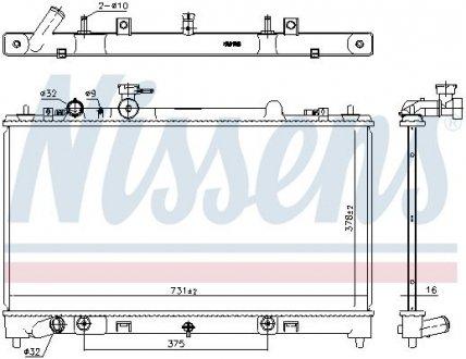 68531 NISSENS Радиатор системы охлаждения