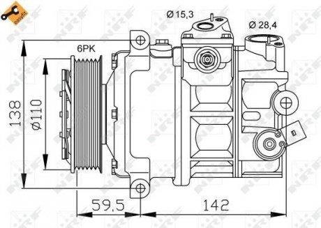 32147 NRF Компрессор кондиционера