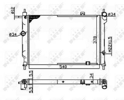 504647 NRF Радиатор охлаждения двигателя