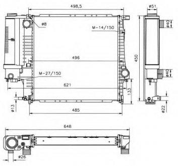 51360 NRF Радиатор охлаждения двигателя