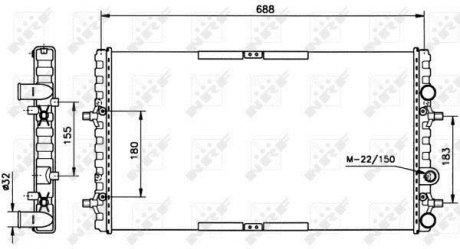 52160 NRF Радиатор охлаждения двигателя