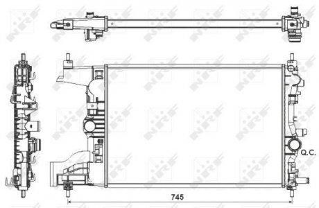 53155 NRF Радиатор системы охлаждения