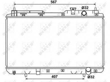 53506 NRF Радиатор охлаждения двигателя