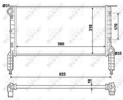 53788 NRF Радиатор охлаждения двигателя
