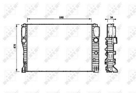 53829 NRF Радиатор системы охлаждения