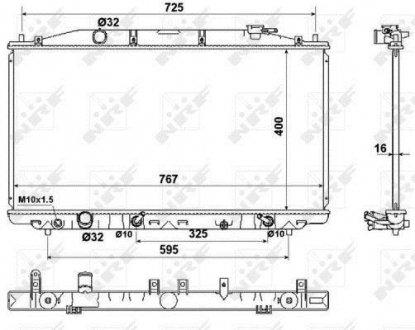 53971 NRF Радиатор охлаждения двигателя