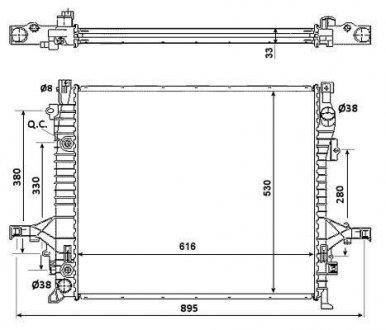 58356 NRF Радиатор охлаждения двигателя