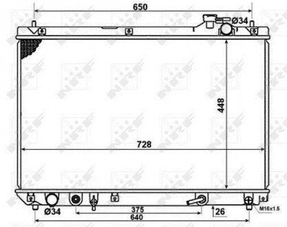 58378 NRF Радиатор системы охлаждения
