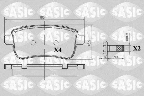 6214023 SASIC Тормозные колодки, комплект