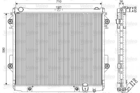 701552 Valeo Радиатор системы охлаждения