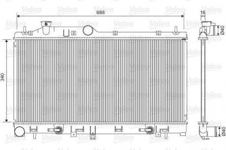 701554 Valeo Радиатор системы охлаждения