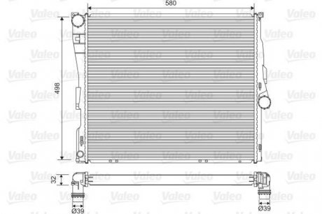 701563 Valeo Радиатор системы охлаждения