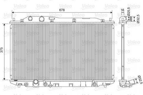 701570 Valeo Радиатор системы охлаждения