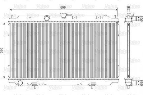 701581 Valeo Радиатор системы охлаждения