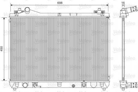 701592 Valeo Радиатор охлаждения двигателя