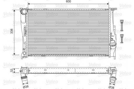 701601 Valeo Радиатор системы охлаждения