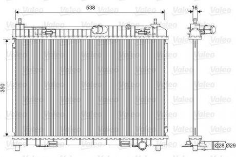 701603 Valeo Радиатор системы охлаждения