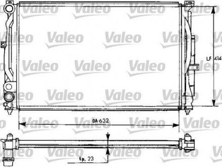731537 Valeo Радиатор, охлаждение двигател