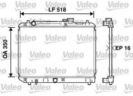 732750 Valeo Радиатор, охлаждение двигател