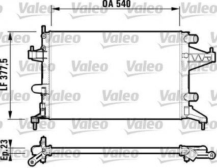 732825 Valeo Радиатор системы охлаждения