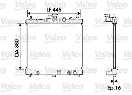734247 Valeo Радиатор охлаждения двигателя