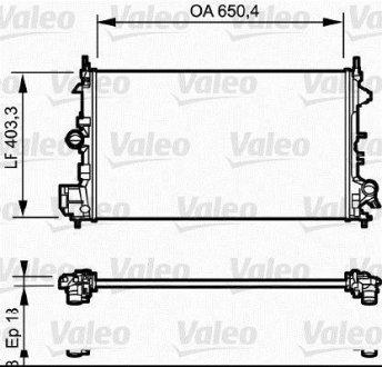 734981 Valeo Радиатор охлаждения двигателя