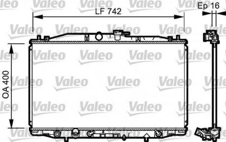 735049 Valeo Радиатор, охлаждение двигател