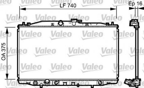 735050 Valeo Радиатор охлаждения двигателя