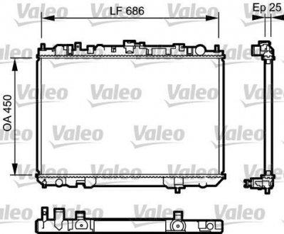 735081 Valeo Радиатор охлаждения двигателя