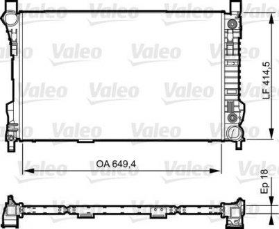 735144 Valeo Радиатор системы охлаждения