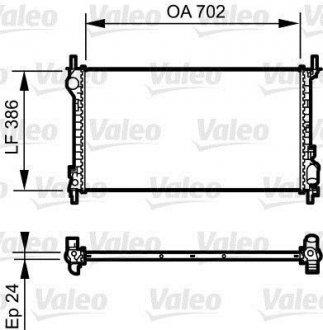 735167 Valeo Радиатор системы охлаждения