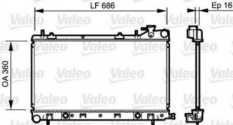 735209 Valeo Радиатор охлаждения двигателя