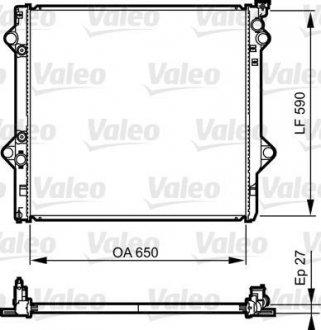 735569 Valeo Радиатор системы охлаждения